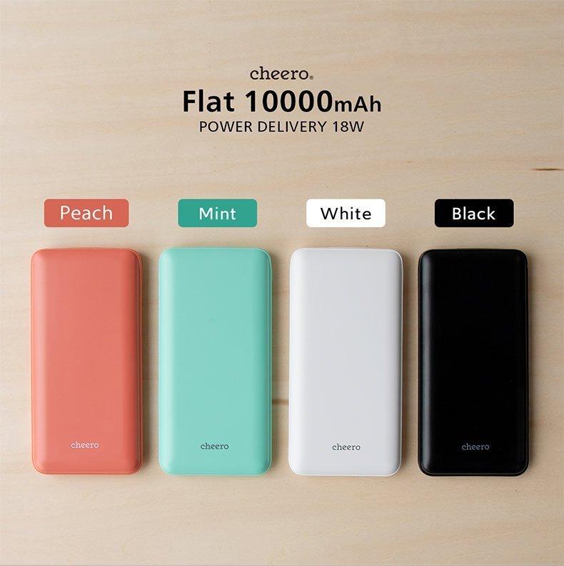 cheero Flat轻薄充电宝10000毫安PD18W快充移动电源